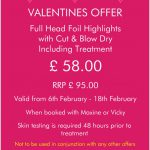 valentines hair salon offer